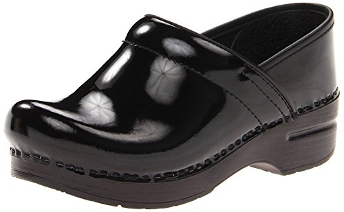 Dansko Women's Professional Clog Clogs Black Patent Leather EU Size: 39 - US Size: 8.5/9 Medium