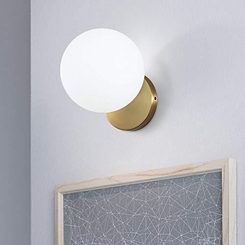 Nordic Minimalism Gold Led nachtkastje wandlampen concise glas bal studie spiegel badkamer licht armaturen