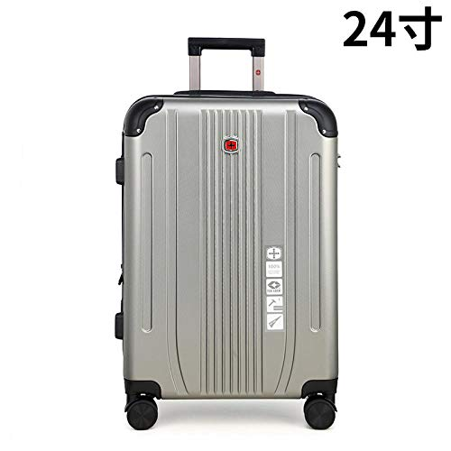 YANYINGDE Trolley Kofferset Reisekoffer Set mit Rollen,PC Luggage universal Wheel Zipper Boarding Suitcase@Light Grey_26 inches,Trolley-Koffer mit...