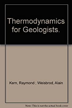 Hardcover Thermodynamics for Geologists Book