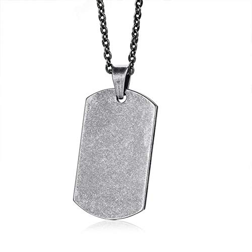 LWYNZ Necklace Trendy Stainless Steel Arm Tag Men Pendant In Black Gold Silver Color Punk Basic Bets Friend Unisex Jewelry