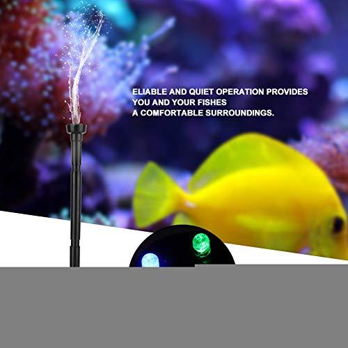 Acogedor dompelpomp fontein met 4 kleuren led lichtstroom, ultrastille dompelpomp met lichtstroom, voor aquarium vijver fontein aquarium