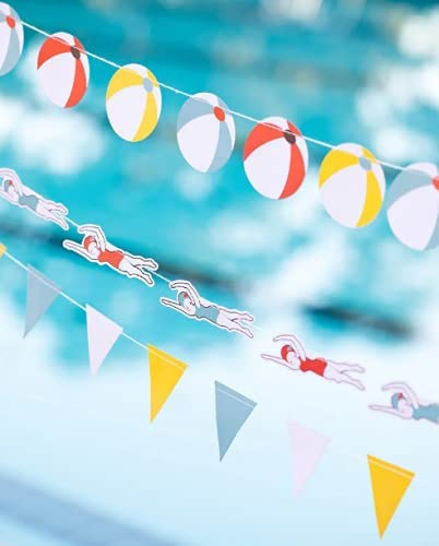 Pool Party Clearance SALE Fees free!! Limited time Decorations - Banner Set Swim Birthday