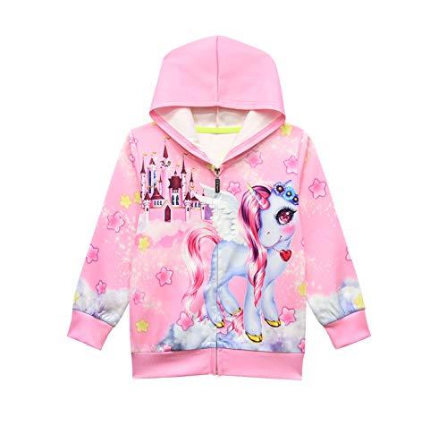 Hoodies for Girls Cartoon 6Y Jacket Princess Sweatshirts Long Sleeve Coat Novelty Hoodies Cute 2020 Kids Princess Outwear Coat Casual Clothes