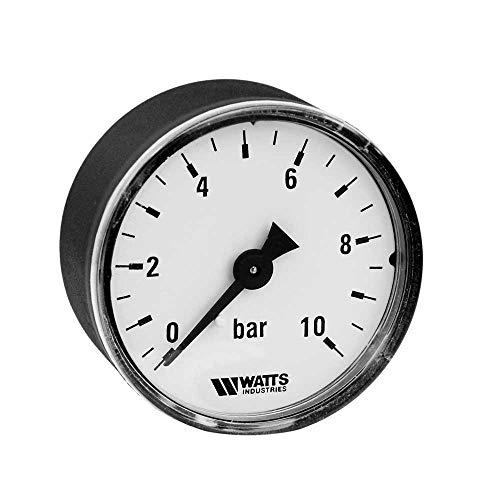 Ritzer by Watts: Manometer mit Anschluß 1/4 Zoll Gewinde hinten, 1/4