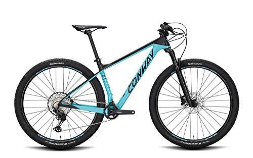 ConWay RLC 4 Bicicleta de montaña para hombre, de montaña, ciclismo, color turquesa y negro mate, 2020, altura de 44 cm