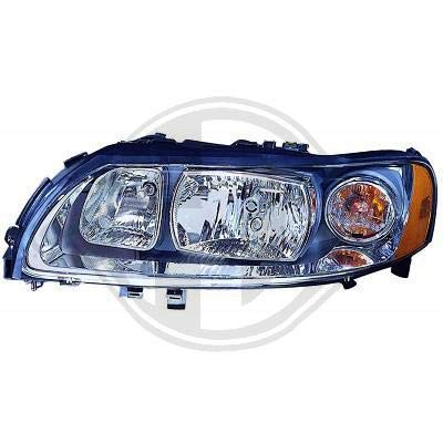 7635183; koplamp links (bestuurderszijde) voor V70 van 2004 tot 2007 originele look