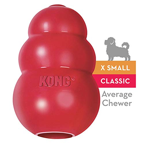 KONG - Classic Dog Toy - Durable Natural Rubber - Fun to Chew, Chase and Fetch - For Extra Small Dogs