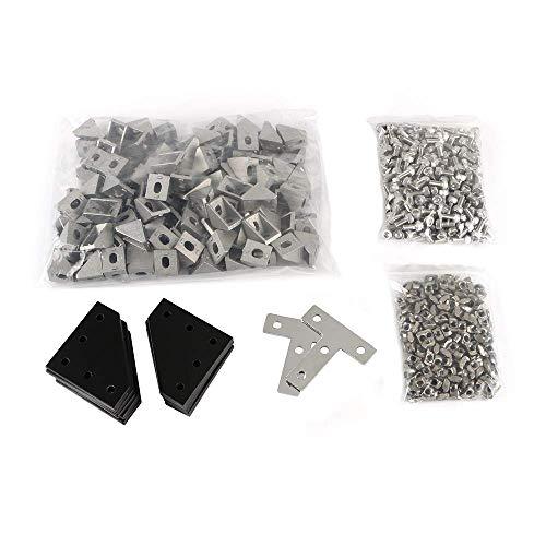 Accesorios de impresora Kit de hardware de marco de cubo BLV MGN, piezas de hardware de tuerca de tornillo, piezas de máquina para DIY CR10 Anet E12, piezas de impresora 3D, accesorios de impresión 3D
