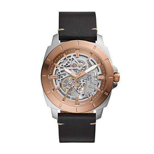 Fossil - Reloj automático de Cuero para Hombre BQ2428