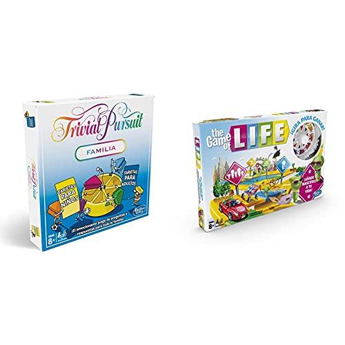 Hasbro Gaming Trivial Pursuit (Versión Española) (E1921105) + Game of Life Juego De Mesa, Multicolor, Única (E4304105)