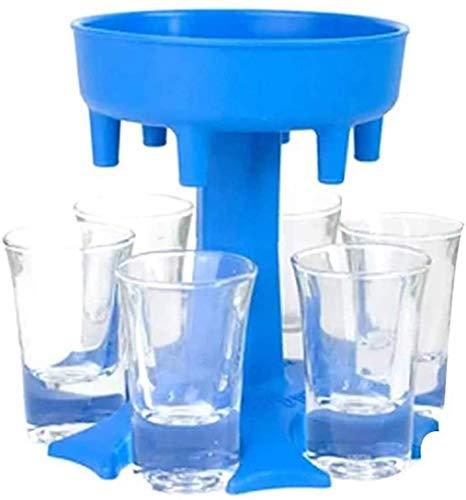 Fengnannan Schnapsglas-Spender SIX Ways, Glashalter Caddy Liquor Dispenser, Spender Zum Befüllen Von Flüssigkeiten Weinglas-Spender Im Freien Bierspender, Trinkspiele Schnapsgläser