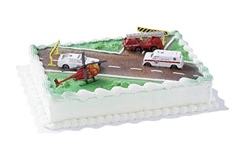 Cake Company Tortendekoration Rettungsfahrzeuge mit vier verschiedenen Rettungsfahrzeugen