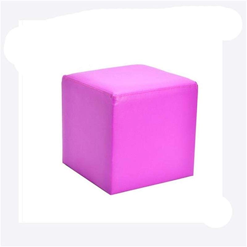 Carl Artbay Wooden Footstool Square Purple Square Leather Stool Home Changing His Shoes Stool Home