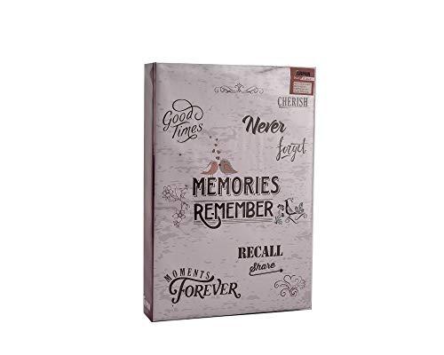 ARPAN Álbum para 300 fotos de 10 x 15 cm, con espacio para notas al lado de cada fotografía y páginas de fotos, color rosa claro, 22 x 4,5 x 33 cm