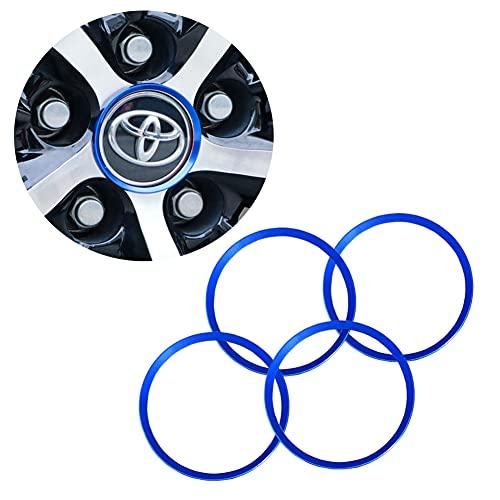 Auto Wheel Tire Trim for Toyota Camry Accessories 2016-2020, Trim Accessories for 2016-2018 Toyota Corolla Accessories, Aluminum Alloy Wheel Caps Hub Rings, Exterior Trim Accessories (Blue)