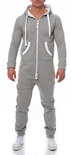 Herren Jumpsuit Farbauswahl Jogging Anzug Trainingsanzug Einteiler Overall