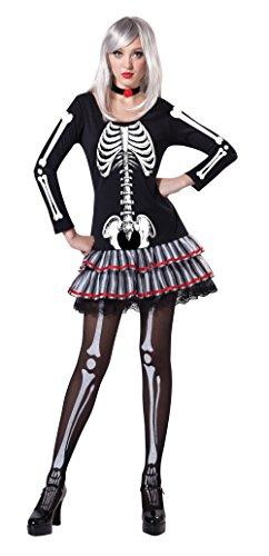 Bristol Novelty AC205 Disfraz da de los Muertos Doncella esqueleto