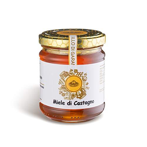 Moretti®   Miel artisanal   Fabriqué en Calabre   Essences diverses   Emballage en verre 250g (Châtaignier, 1)