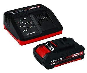 Original Einhell Starter Kit Akku und Ladegerät Power X-Change (Lithium Ionen, 18 V, 1,5 Ah Akku und Schnellladegerät, passend für alle Power X-Change Geräte)