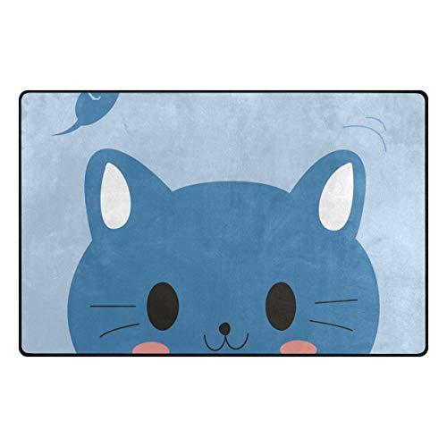 S Husky Cute Cat Rat Area Rug Mat for Bedroom Cartoon Pattern Floor Rug Non-Slip Carpet for Living Room Kid Room Decor 60 x 39 in 2040386