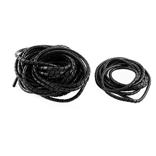 X-DREE Cable de cinta de envoltura en espiral Wire Manager 6mm Dia...