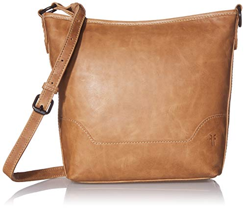 Antique pull up leather hobo from Frye's best selling Melissa collection 1 interior zip pocket, 2 interior sleeve pockets leather shoulder strap and removable, adjustable crossbody strap Measurements: 8.5 inches H x 12 inches W x 2 inches D, Adjustab...