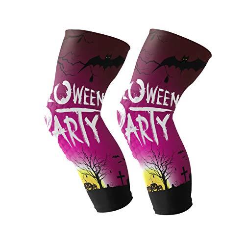 Coosun - Rodillera de compresión para fiestas de Halloween en la noche, para correr, artritis, lágrimas de menisco, deportes, alivio del dolor en las articulaciones y recuperación de lesiones