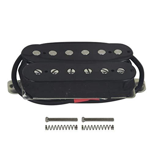 FLEOR Juego de mástil/puente (50 mm / 52 mm) Pastilla de guitarra Humbucker Alnico 5 Magnet Double Coil Humbuckers Parte de pastilla de guitarra eléctrica, Negro