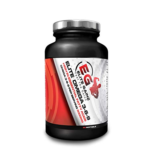 Elite Omega 3-6-9 Omega 3 Fish Oil Triple Strength (3000mg) | Max Absorption Fish Oil Supplement with No Aftertaste | 90 Softgels | UK Made (90 Soft Gels)