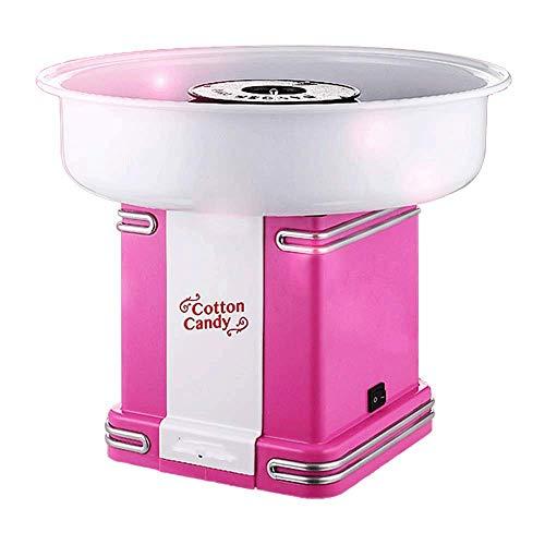 zyl Fabricant de Barbe à Papa électrique Cuisine Bricolage 500W fête des Enfants Saint Valentin Anniversaire Carnaval fête Cadeau Vintage Rose