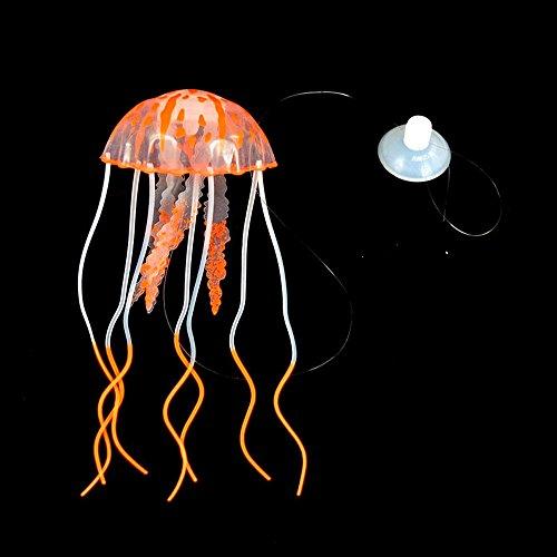 Berrose Simulation Leuchtend Qualle Aquarium Quallen Dekoration glühender Effekt künstliche Verzierung Jellyfish Künstliche für Deko Fisch Tank Ornament Glowing-Effekt Fish