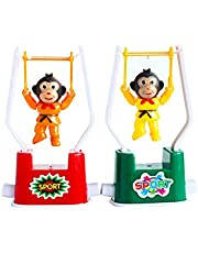 mi ji 2 PCS Wind Up Toys Creativo Divertido Gimnasia Monkey Flip Toy para niños Color Aleatorio