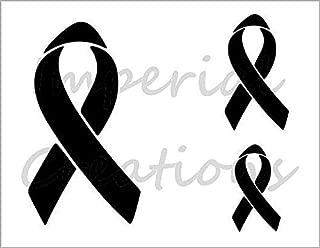 RIBBON 3 Sizes Raise Awareness Breast Cancer 8.5