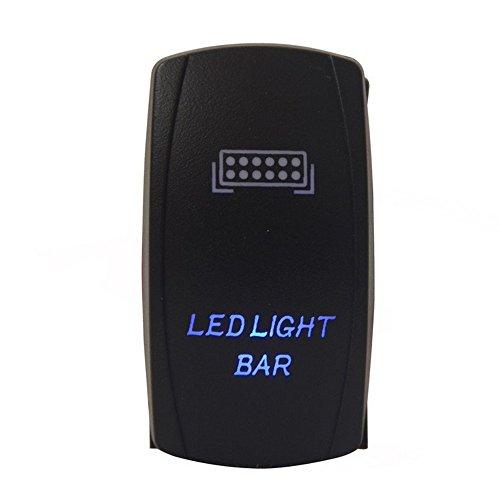 E Support Barra de luz LED azul para coche, 12 V 24 V, interruptor basculante, interruptor basculante, interruptor basculante, interruptor de palanca