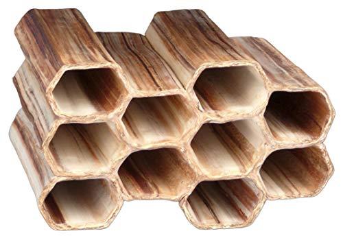 Aquanetta Matrix de 10 à tête hexagonale tuyaux, Tuyau de Distribution 3 + 2 + 3 + 2. Fabriqué à la Main.