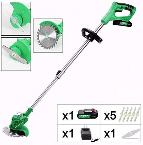 Review LYYJIAJU Rotary Mowers Electric Grass Trimmer,Cordless Battery Grass Trimmer - Ultra Lightwei...