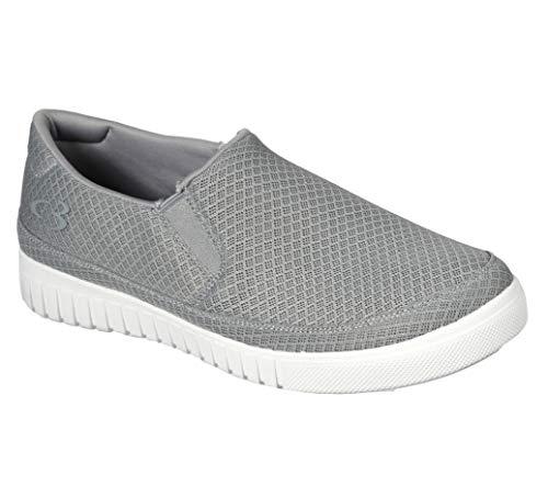 Concept 3 by Skechers Men's Mossly Mesh Slip-on Casual Sneaker, Grey, 10.5 Medium US