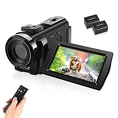 Video Camera Camcorder with Full HD 1080P 30FPS 16X Digital Zoom Digital Camera Vlogging Camera for YouTube 3.0 Inch LCD 270 Degrees IPS Screen LED with 2 Batteries from IEBRT