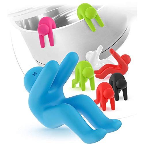 Silicone Lid Lifters, Spill-proof Pot Pan Saucepan Lid Holder, Stand Heat Resistant Holder, Air Circulation and Prevent Overflow Soup, Christmas gifts Fun Kitchen Gadgets and Tools【6 Pack】