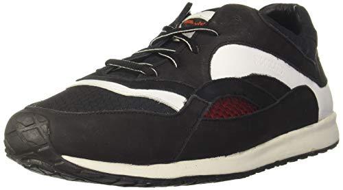Woodland Men's 2998118 Black Leather Sneaker-7 UK (41 EU) (8 US) (OGC 2998118BLACK)