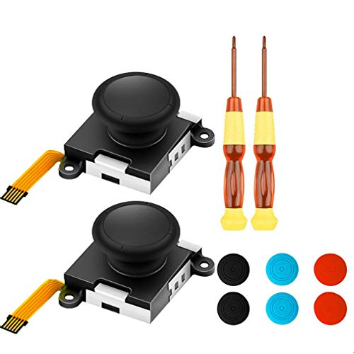 Rumfo 10 in 1 3D Analog Thumb Stick for Nintendo Switch NS Joy Con Joystick Caps Replacement Repair Parts Mod Kit for JoyCon Switch Controller (Set C)