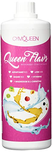 GYMQUEEN Flavs 1000ml | Zuckerfreies Getränkekonzentrat 1:80 | Getränke-Sirup mit wenig Kalorien | mit Vitaminen und L-Carnitin | Vegan | Multifrucht