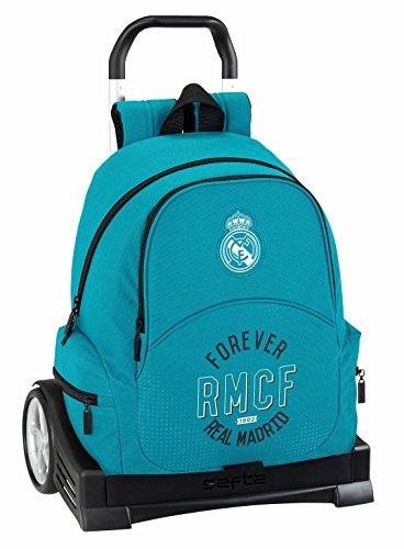 Zaino Schienale Ergonomico Real Madrid 3ª Equip. 17/18 Con Trolley Safta Evolution