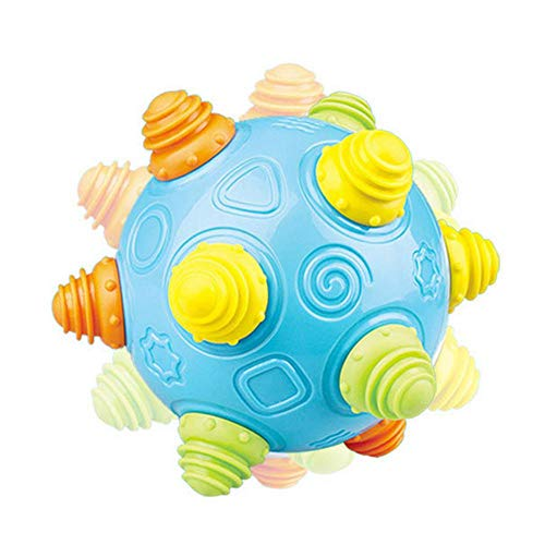 Leegoal Baby Music Shake Dancing Ball Toy for Boys and Girls, Self-Bouncing Music Astro Ball,Taste Cartoon Enlightenment Explore Puzzle Bouncing Sensory Developmental Ball Jumping Activation Ball