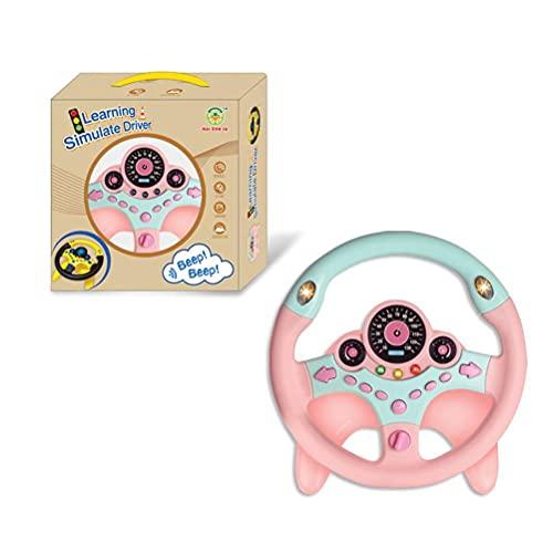 Gogias Volante de juguete para niños, juego de simulación de volante para conducción temprana, juguete educativo para niños de 3, 4, 5, 6 años de edad, niños y niñas