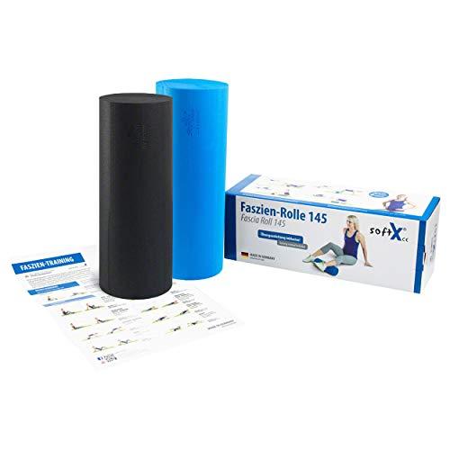 Sport-Tec softX® Faszien-Set Rolle 2-TLG, Rolle 145, blau/schwarz