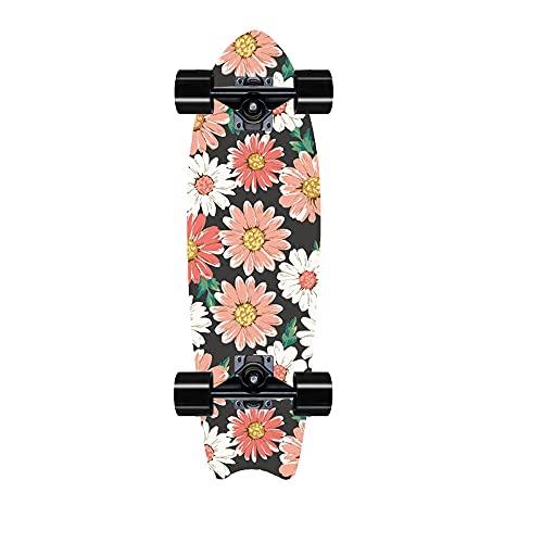 TTKD Skateboard, Hecho de Arce de 8 Capas, Blank Cruiser, Camber cóncavo, Freestyle Terrain Longboard para Principiantes y monopatín Profesional para Deportes y Aire Libre