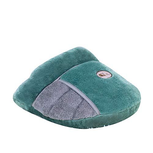 BoyYang Katze Schlafsack Haustier Beutel Weich Warm Waschbare Kätzchen Bett kuschelige Katzenhöhle mit weichem Plüsch, zum Verstecken und Relaxen, Kann Deine Katze umarmen Decken Matte (M,Grün