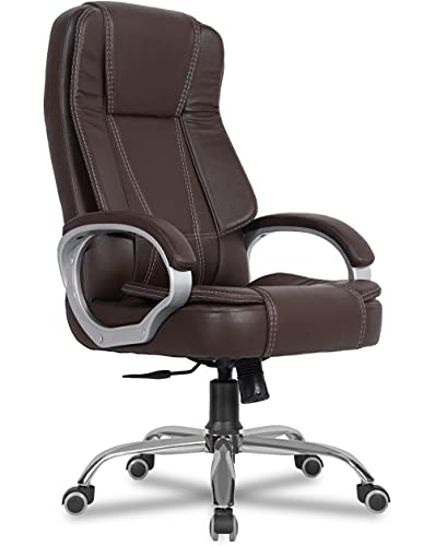 Green Soul Vienna Leatherette High Back Full Back Executive Ergonomic Chair (Brown)